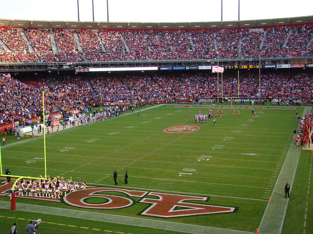 Rams vs 49ers at Candlestick Park