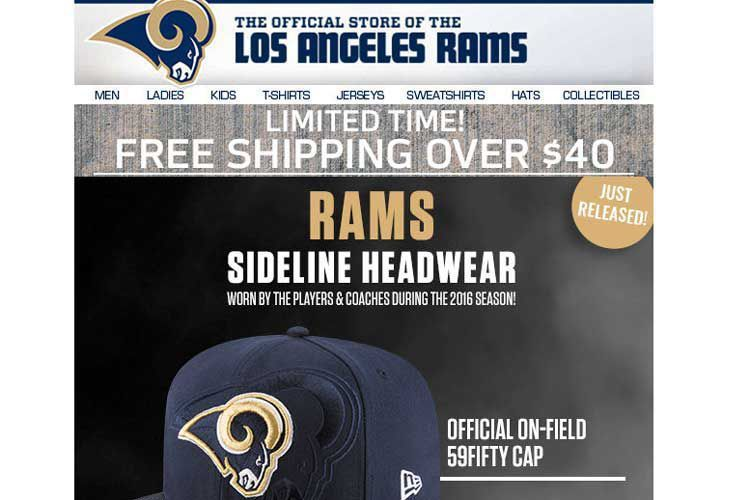Former Rams Ticket Holders Not Happy About Email Promoting New LA Rams Hats